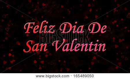"Happy Valentine's Day Text In Spanish ""feliz Dia De San Valentin"" On Dark Background"