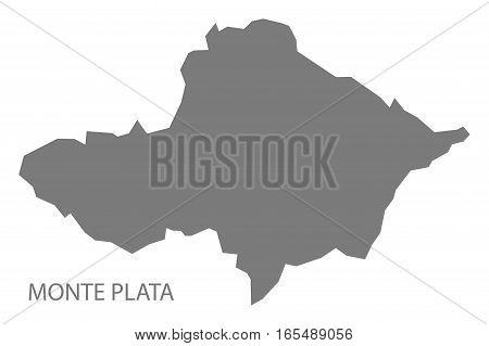 Monte Plata Dominican Republic Map Grey