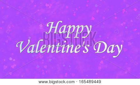 Happy Valentine's Day Text On Purple Background