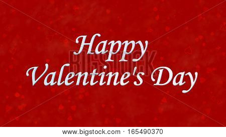 Happy Valentine's Day Text On Red Background