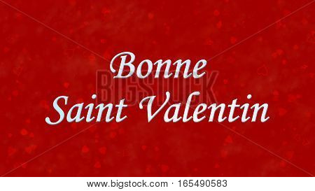 """Happy Valentine's Day Text In French """"bonne Saint Valentin"""" On Red Background"""