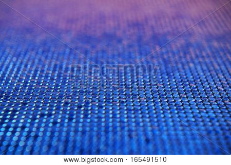 Chainlink fabric blue gradient - shiny texture, depth of field