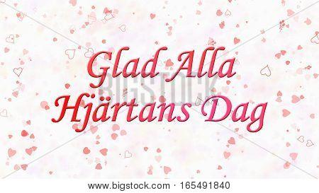 "Happy Valentine's Day Text In Swedish ""glad Alla Hjartans Dag"" On Light Background"