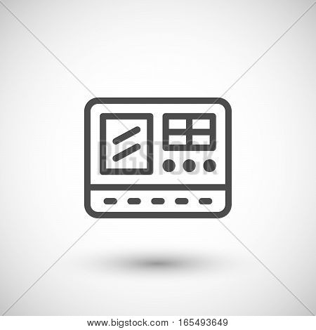 Control panel line icon isolated on grey. Vector illustration