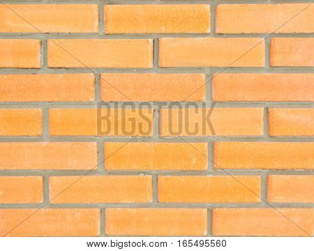 Yellow red new brick wall texture background