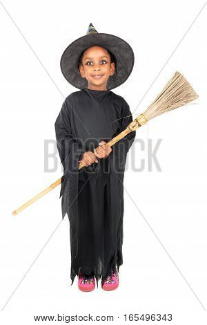 Young Girl Witch In Halloween