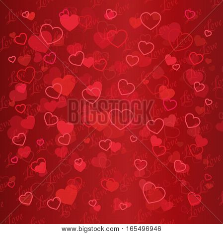 Valentine day abstract background with cut paper heart. Vector illustration