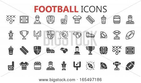 Stylized American Football logo vector icon  Premium symbol collection. Vector illustration. Simple pictogram pack.