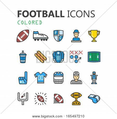 Stylized American Football logo vector icon.  Premium symbol collection. Vector illustration. Simple pictogram pack.