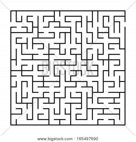 Vector labyrinth 64. Maze / Labyrinth with entry and exit.