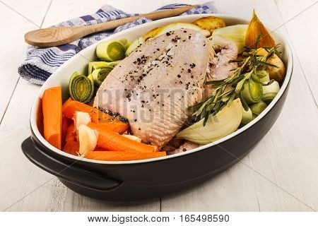 carrots onions whole chicken garlic rosemary celery potatoes to cook a healthy chicken soup