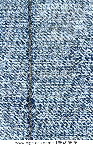 Blue jeans texture background and seam for text area