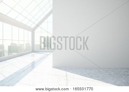 White Concrete Interior