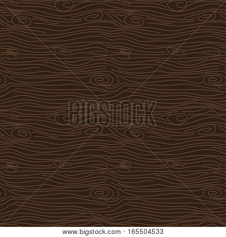 Tree bark brown texture vector seamless pattern. Brown wooden surface background.