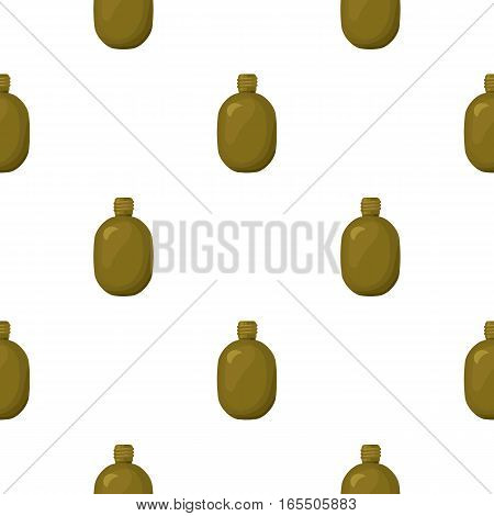 Army canteen icon in cartoon style isolated on white background. Military and army pattern vector illustration