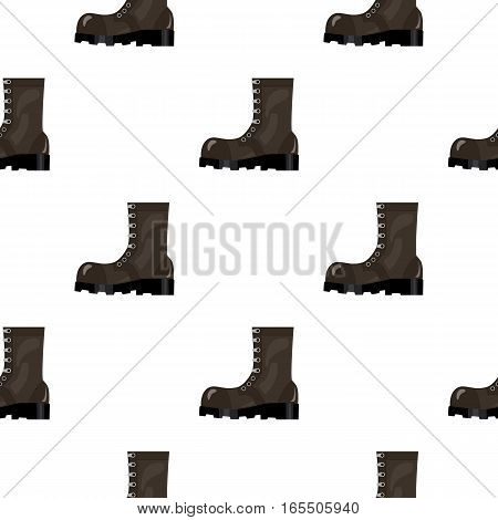 Army combat boots icon in cartoon style isolated on white background. Military and army pattern vector illustration