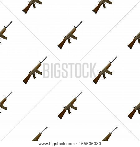 Military assault rifle icon in cartoon style isolated on white background. Military and army pattern vector illustration