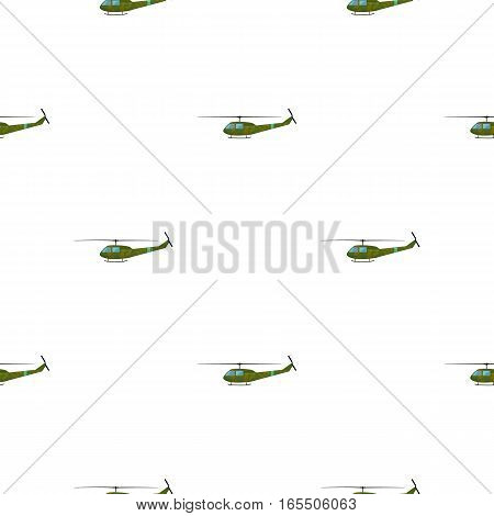 Military helicopter icon in cartoon style isolated on white background. Military and army pattern vector illustration