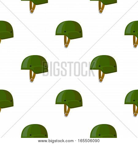 Army helmet icon in cartoon style isolated on white background. Military and army pattern vector illustration