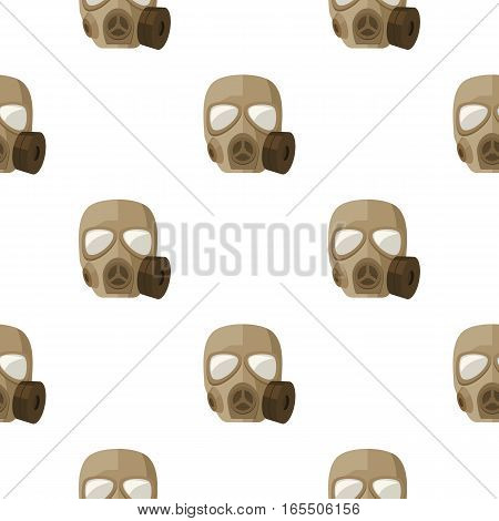Army gas mask icon in cartoon style isolated on white background. Military and army pattern vector illustration