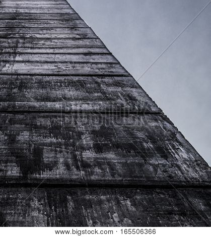 Wall, concrete wall going up, fragment of an old apartment building, residential area, municipal housing, abstract wall background, abstract concrete