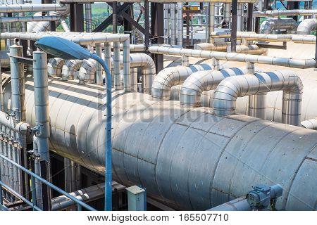 Top Floor Of Boiler In Fuel Gas Power Plant