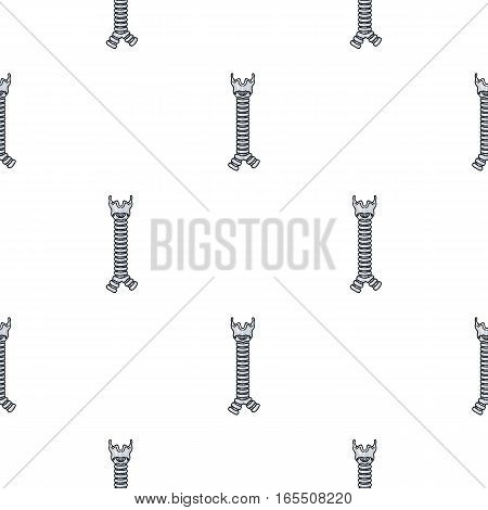 Human trachea icon in cartoon style isolated on white background. Human organs symbol vector illustration.