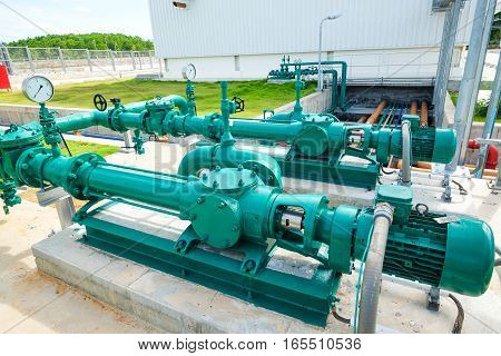 Screw pump fore drainage water in power plant