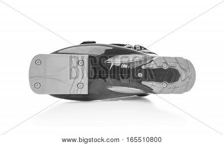 Ski boot sole is. Isolated on white background.