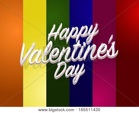 Happy Valentine's Day Words Label. Metro Sexual Valentine's Day. Vector Illustration.
