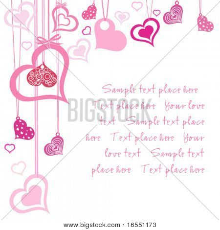 Valentin`s day card.