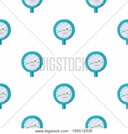 Oil manometer icon in cartoon style isolated on white background. Oil industry pattern vector illustration.
