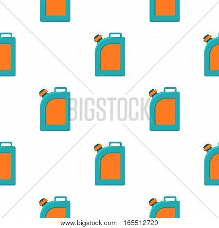 Oil jerrycan icon in cartoon style isolated on white background. Oil industry pattern vector illustration.