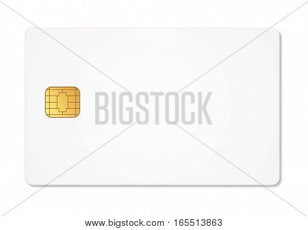 Blank sim card. Vector illustration. Conceptual illustration. Isolated on white background