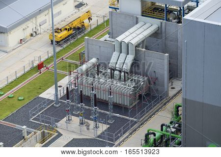 Electrical transformer in combine cycle power plant