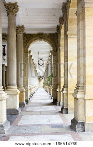 Colonnade Karlovy Vary (Carlsbad) Czech Republic .