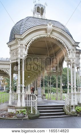 Sadova Colonnade(Garden colonnade end of the XIX century) Karlovy Vary (Carlsbad) Czech Republic