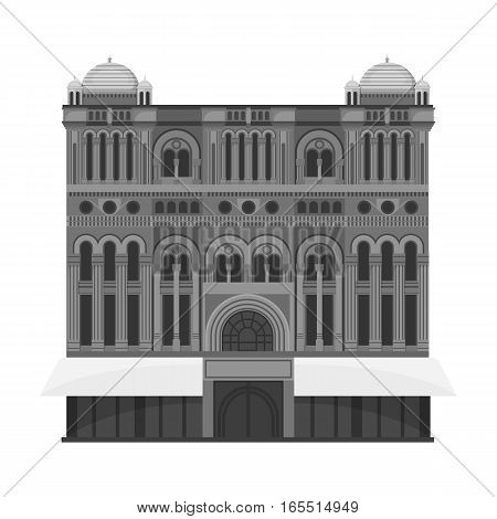 Queen Victoria Building icon in monochrome design isolated on white background. Countries symbol stock vector illustration.
