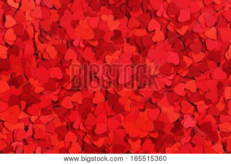Seamless background made od small paper hearts Valentines day concept