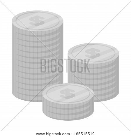 Money donation icon in monochrome design isolated on white background. Charity and donation symbol stock vector illustration.
