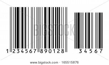 Barcode. Vector illustration. Conceptual illustration. Isolated on white background