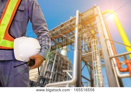 Double Exposure Mechanical Engineer Or Civil Engineer Against Bl