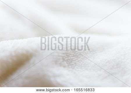 Beige Delicate Soft  Background Of Plush Fabric.
