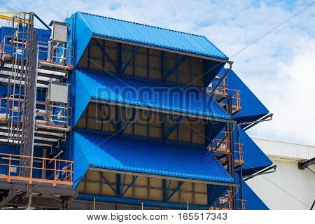 Air inlet duct or filter house of combine cycle power plant