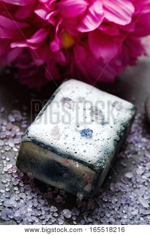 Spa Treatment With Black Cleaning Soap