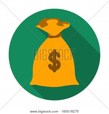 Money donation icon in flat design isolated on white background. Charity and donation symbol stock vector illustration.