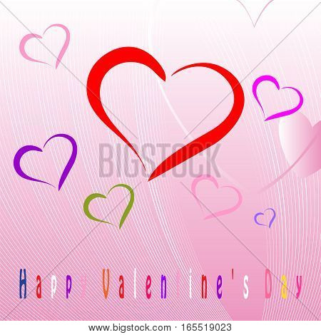 Happy Valentines Day celebration greeting card decorated with heart shape