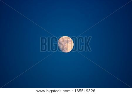 Moon rising in the second quarter, on the eve of the full moon.