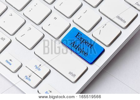Business concept: Expert Advice on computer keyboard background