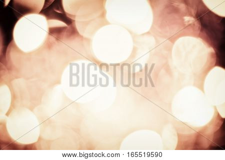 Vintage Magic Background With golden Color Festive background with natural bokeh